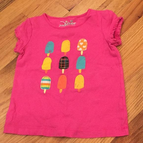 Jumping Beans Infant /& Toddler Girls USA Flag Patriotic Glitter Heart Stripe Ruffle Tee Shirt